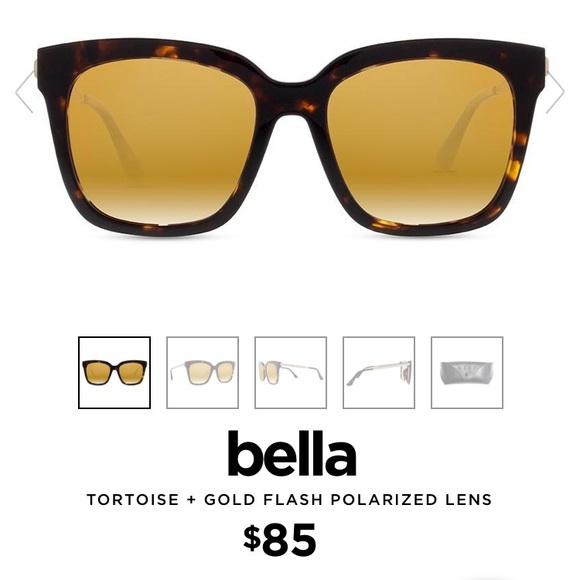 1e7bb39cab DIFF BELLA Tortoise + Gold Flash Sunglasses